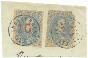 Fake postmarks on fake CSA #4 stamps