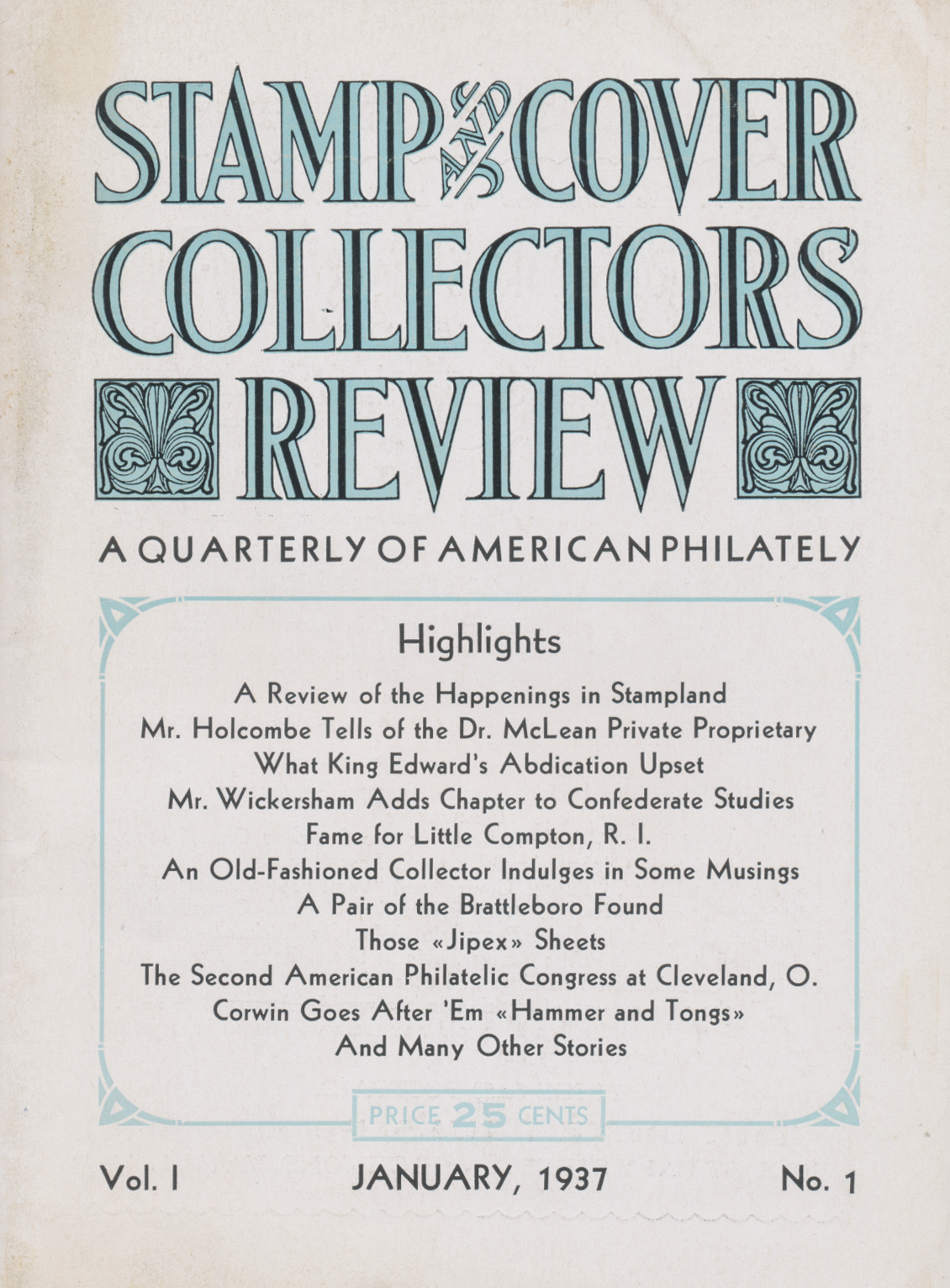 Stamp and Cover Collectors Review   Confederate Stamp Alliance
