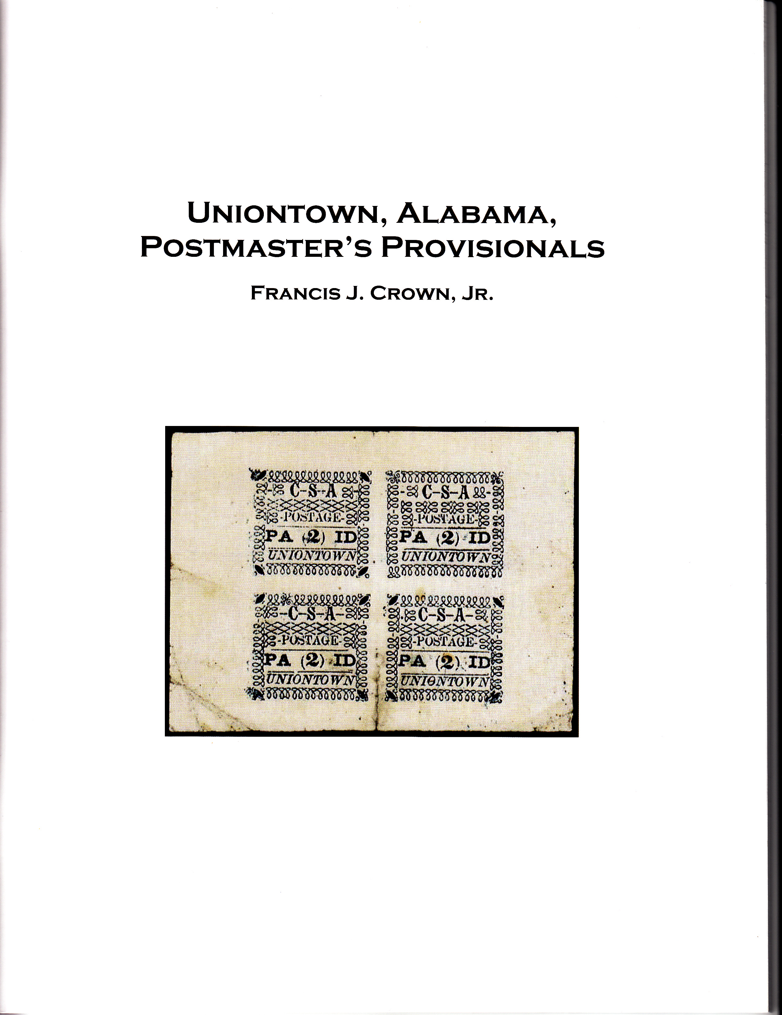 Uniontown, Alabama Postmaster's Provisionals